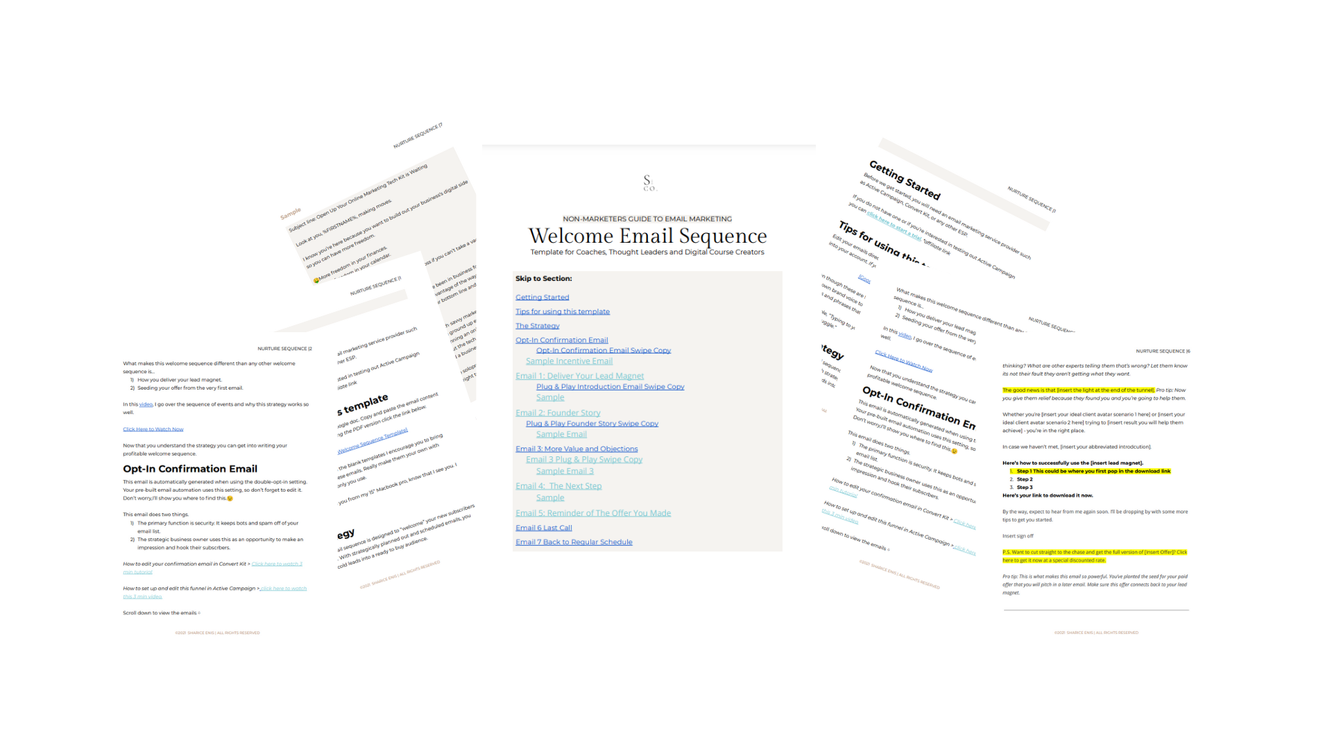 Non-Marketers Welcome Email Series Swipe File1